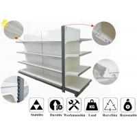 Wholesale Customized Size Supermarket Metal Shelving , 4 Layer Metal Gondola Shelving from china suppliers
