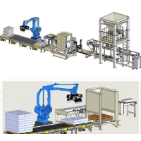 Wholesale Automatic Weighing Filling Packing Sealing Palletizing Line Machine from china suppliers