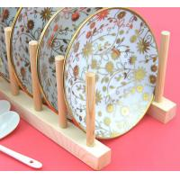 Buy cheap Wood Flat Plate Drying Rack /Pot Lid Holder from wholesalers