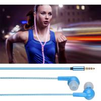 Wholesale Visible Flowing Led Light Sport Earbuds Earphones 3.5mm Jack Cable Wired In Ear Stereo from china suppliers