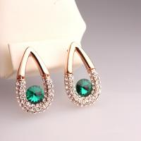 Wholesale Hot New Arrival 1pc MOQ Free Shipping China Fashion Jewelry Waterdrop Earrings for Wedding Gem Green Earrings Earrings from china suppliers