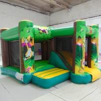 Wholesale Commercial Jungle Inflatable Combo 2 In 1 Combo Bounce House With Side from china suppliers