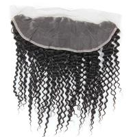 Wholesale Thick Human Hair Lace Closure , Brazilian Lace Frontal Closure With Baby Hair from china suppliers