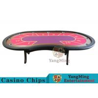 Wholesale 10 Seats Casino Poker Table With environmentally friendly PU leather armrest from china suppliers