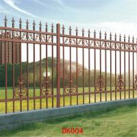 Wholesale Antique brass color wrought iron fence Residential place Fence panels Cheap wrought iron fence panels for sale model DK0 from china suppliers