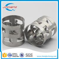 China Thin Wall Metal Random Packing / Stainless Steel Pall Rings For Cooling Tower on sale