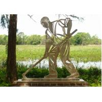 Wholesale Stainless Steel Outdoor Metal Sculpture , Metal Figure Sculpture For Public Decoration from china suppliers