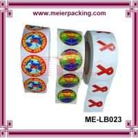 Wholesale Color Ribbon Awareness Roll Sticker/AIDS Roll of Label Stickers/CustomPET Printed Sticker ME-LB023 from china suppliers