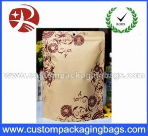 China Vertical aluminum foil lined kraft paper bag on sale