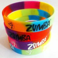 China 1 Inch Raibow Embossed Silicone Wristband Bracelet For University Portable Wear for sale