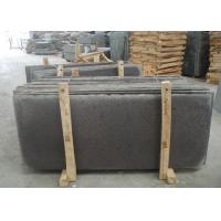 Hainan Black Basalt Natural Stone Tiles For Kitchen Floor Big Holes 20mm Thickness for sale