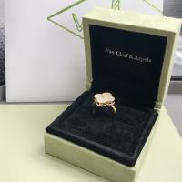Wholesale Elegant 18K Gold Van Cleef Jewelry , Vintage Mother Of Pearl And Diamond Ring from china suppliers