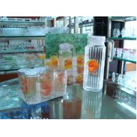 Wholesale Round 240ml 6 Drinking Glass Cup and 1000ml Jar decal Logo Printing Set / Sets from china suppliers