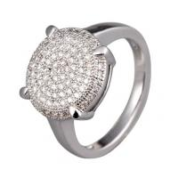 Buy cheap Cute spirituality 925 silver Rhodium plated micro pave setting western jewelry rings from wholesalers