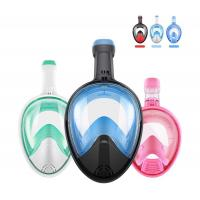Wholesale Easy Breathe Snorkel Mask Full Face Swimming Mask 180°Panoramic View from china suppliers