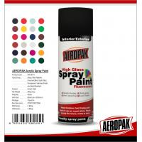 Fast Dry 400ml Aerosol Spray Paints / High Coverage Black Spray Paint For Cars for sale