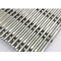 Wholesale White Steel Crimped Wire Mesh , Plain Weave Mesh Bright Smooth Wear Resistance from china suppliers