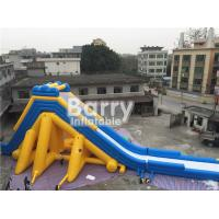 Quality 3 Years Life Span Yellow Giant Inflatable Slip And Slide For Kids / Adults for sale