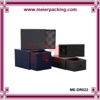 Wholesale Matte Black paper drawer box/drawer gift box with gold foil stamping logo/paper drawer box for clothes with rib ME-DR022 from china suppliers