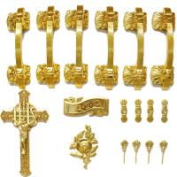 Wholesale PP Material Coffin Furniture Casket Cross And Handle Set HS9001 from china suppliers