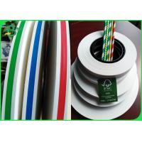 China Food Grade Stripe Printed Straw Paper Slitted Small Rolls For Drink Straws for sale