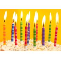 Wholesale Scheme Color Streak Striped Birthday Candles , Beautiful Custom Birthday Candles from china suppliers