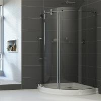 Wholesale Simple Painting Tempered Glass Sliding Bathroom Shower Enclosure from china suppliers