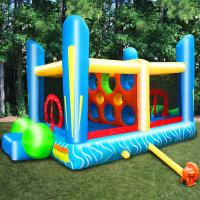 Wholesale Mini Inflatable Bouncer For Rental Business / Birthday Party Bounce House With 2 Jumping Area from china suppliers