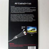 Quality White soft & durable usb AV Cable 2+1 Kit For ipad / iPhone 4G / 3Gs for sale