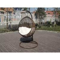 Wholesale PE Rattan Swing Chair , Garden / Balcony Glider With White Cushion from china suppliers