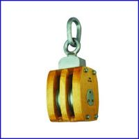 China B138 JIS Marine Wooden Block Double Sheave Pulley With Connected Link for sale