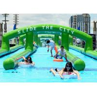 Wholesale Customized Long Amazing Inflatable Water Slides For Kids Amucement from china suppliers