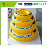Bright Colors Inflatable Swim Ring High Safety For Pool Entertainment