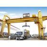 40 50 100 Ton Double Girder Gantry Crane Rail Mounted 18 - 35m Span Optional Color for sale
