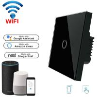 Wholesale Wifi Light Switch For Mobile APP Remote Control touch switch white 1 Gang EU Standard from china suppliers