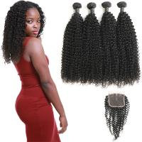 Wholesale 4 Bundles Of Virgin Peruvian Hair Bundles With Closure Customized Length from china suppliers