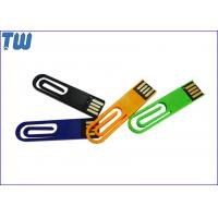 China Plastic Paper Clip 128GB Thumb Drives Flash 2IN1 Office Useful for sale