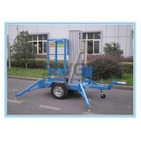 Quality Vertical Aluminium Alloy Truck Mounted Man Lift , Single Mast Electric Boom Lift for sale