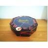 Decorative Cookie Tin Box Hexagonal Shape With PET Window Custom Printed for sale
