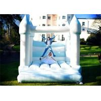 Quality White And Blue Color Inflatable Bouncer , Wedding Inflatable Bouncer For Sale for sale