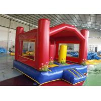 Wholesale ODM Red Outdoor Games Inflatable Blow Up House Bouncer With Raincover from china suppliers