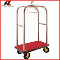 Luxury Hotel Lugagge Bellman Cart In Rose Gold Stainless