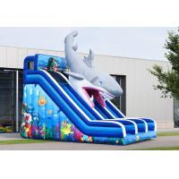 Wholesale Waterproof Haaien Cusom Inflatable Shark Slide Durable PVC Material from china suppliers