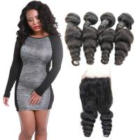 Wholesale Healthy Tight Loose Human Hair Extensions With Closure Customized Length from china suppliers