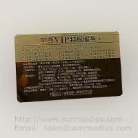 Wholesale Customized metal business cards print etched metal cards in mass production from china suppliers