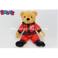 China 10Plush Stuffed Toy Wear Red Joined Bodies Vehicle Race Clothing Teddy Bear on sale
