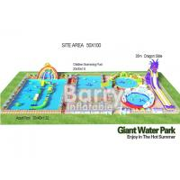 Wholesale 3D Inflatable Backyard Water Park Construction Giant 0.55mm PVC Tarpaulin from china suppliers