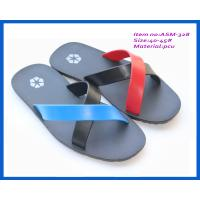 China Fashion cheap high quanlity men's slippers PCU flat heels for 2014 ASM-328 on sale