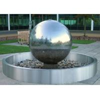 Wholesale Stainless Steel Ball Water Feature / Stainless Steel Sphere Water Features For The Garden from china suppliers