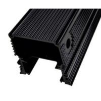 Black Anodized Aluminum Extrusions For Electronics / Electrical Cover / Electronic Enclosure for sale